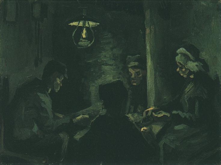 Estudio para Los comedores de patatas ` de Vincent Van Gogh ...