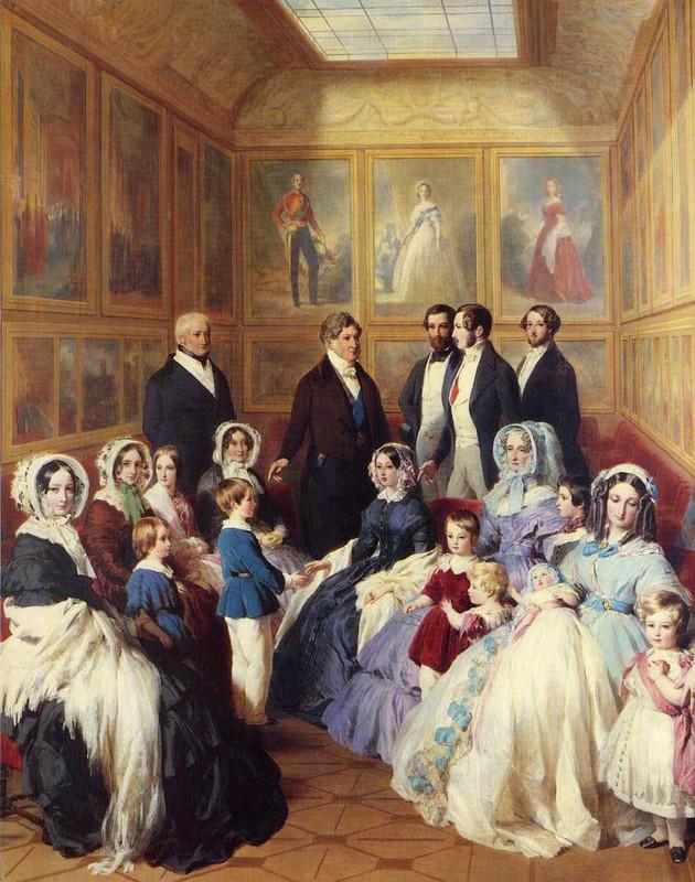 Reina Victoria y el príncipe Alberto con la familia del ...