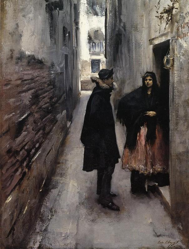 Armario Keter Jardin ~ John Singer Sargent>> Una calle en Venecia (oleo, obra