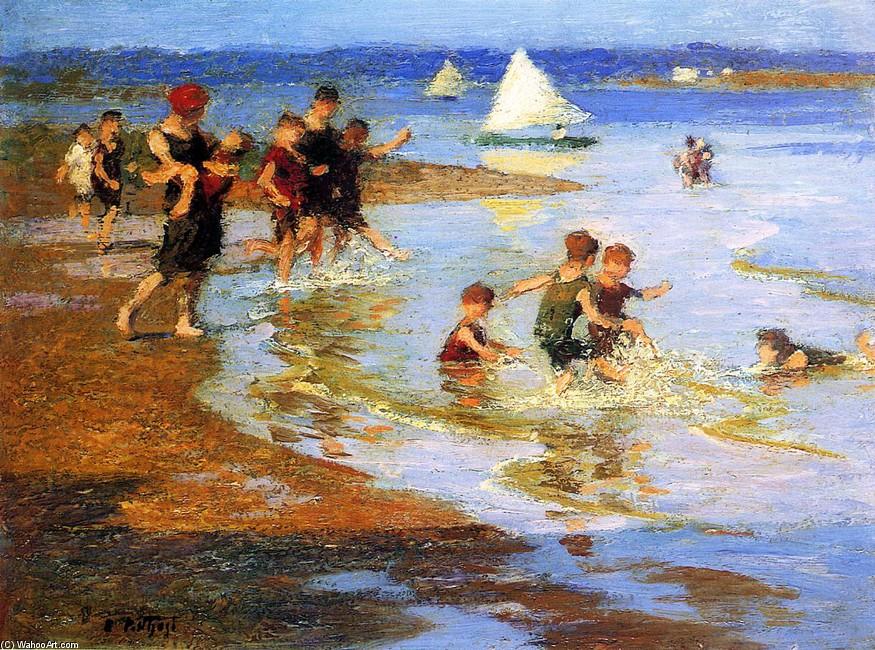 Niños Jugando En La Playa (Edward Henry Potthast