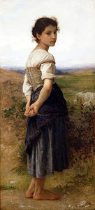 William Adolphe Bouguereau - La Pastora joven