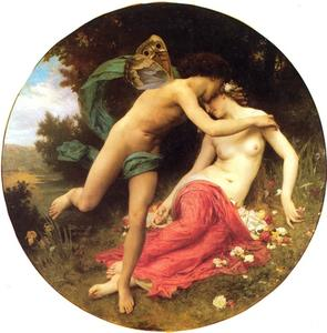 William Adolphe Bouguereau - Cupido y Psique