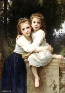 William Adolphe Bouguereau - Dos hermanas