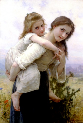 Carga Agradable, óleo de William Adolphe Bouguereau (1825-1905, France)