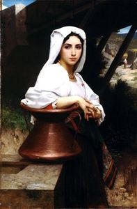 William Adolphe Bouguereau - Dibujo italiano de joven Leau