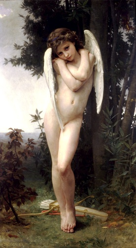 Lamour mojado, óleo de William Adolphe Bouguereau (1825-1905, France)