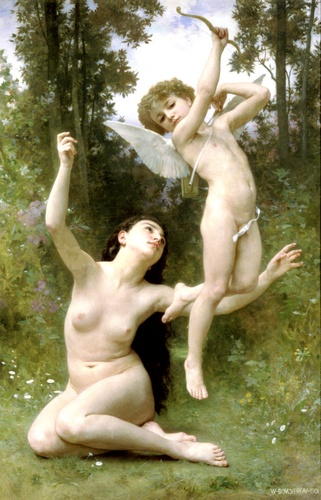 Senvole Lamour, óleo de William Adolphe Bouguereau (1825-1905, France)