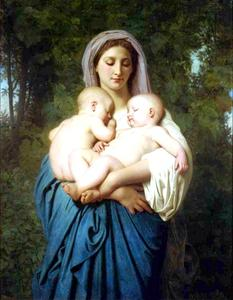 William Adolphe Bouguereau - Caridad 1859