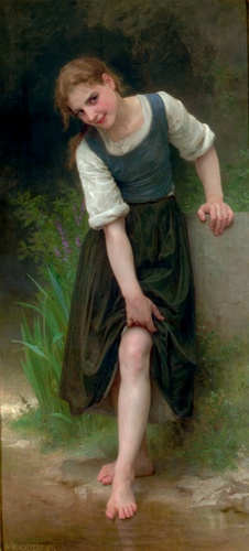 La Gue, óleo de William Adolphe Bouguereau (1825-1905, France)