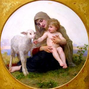 William Adolphe Bouguereau - La Virgen Lagneau