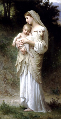 Linnocence, óleo de William Adolphe Bouguereau (1825-1905, France)