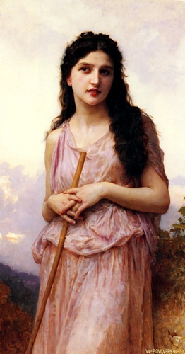 Meditación de William Adolphe Bouguereau (1825-1905, France) | WahooArt.com