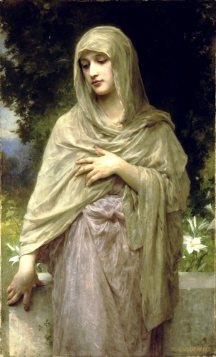 Modestia, óleo de William Adolphe Bouguereau (1825-1905, France)