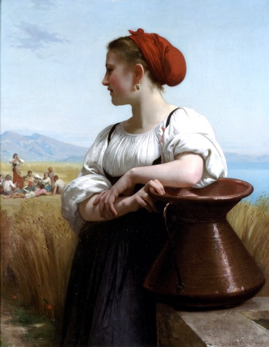 Combinar, óleo de William Adolphe Bouguereau (1825-1905, France)