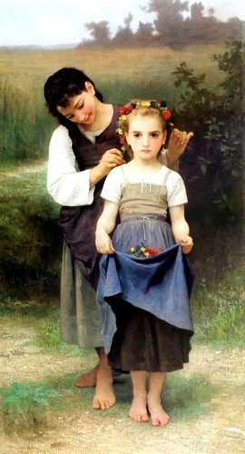 Campos Parure, óleo de William Adolphe Bouguereau (1825-1905, France)