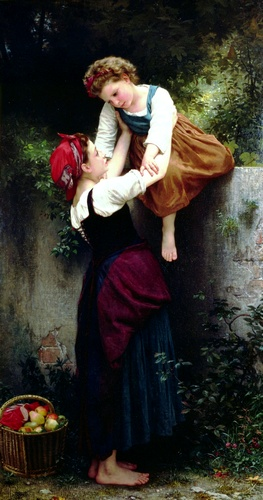 Pequeño merodeadores, óleo de William Adolphe Bouguereau (1825-1905, France)