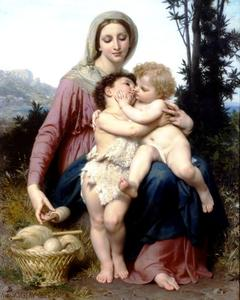 William Adolphe Bouguereau - santa familia