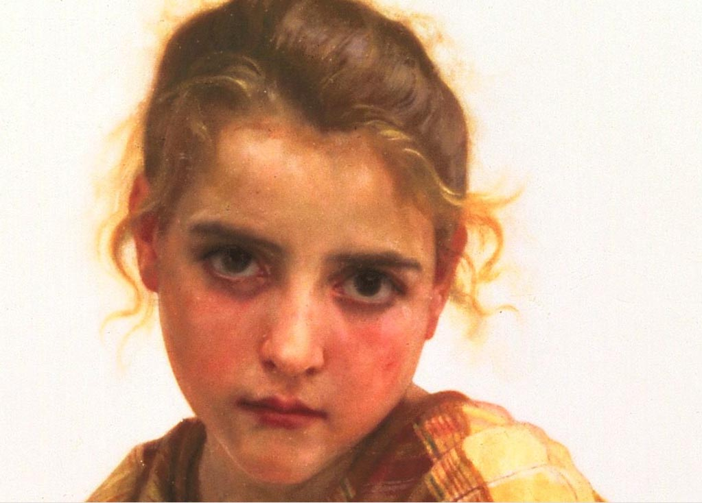 El detalle cántaro roto, óleo de William Adolphe Bouguereau (1825-1905, France)