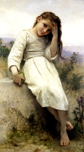 The Little Marauder 1900, óleo de William Adolphe Bouguereau (1825-1905, France)