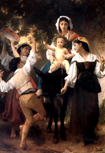 La vuelta de la Cosecha, aceite de William Adolphe Bouguereau (1825-1905, France)
