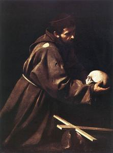 Caravaggio (Michelangelo Merisi) - San Francisco in la oración