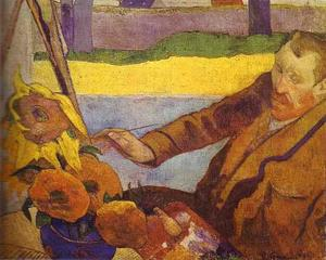 Paul Gauguin - camioneta gough pintura girasoles