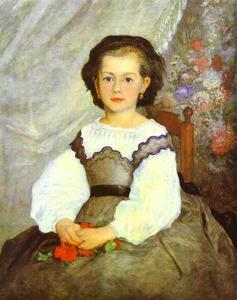 Pierre-Auguste Renoir - Little Miss Romaine Lacaux