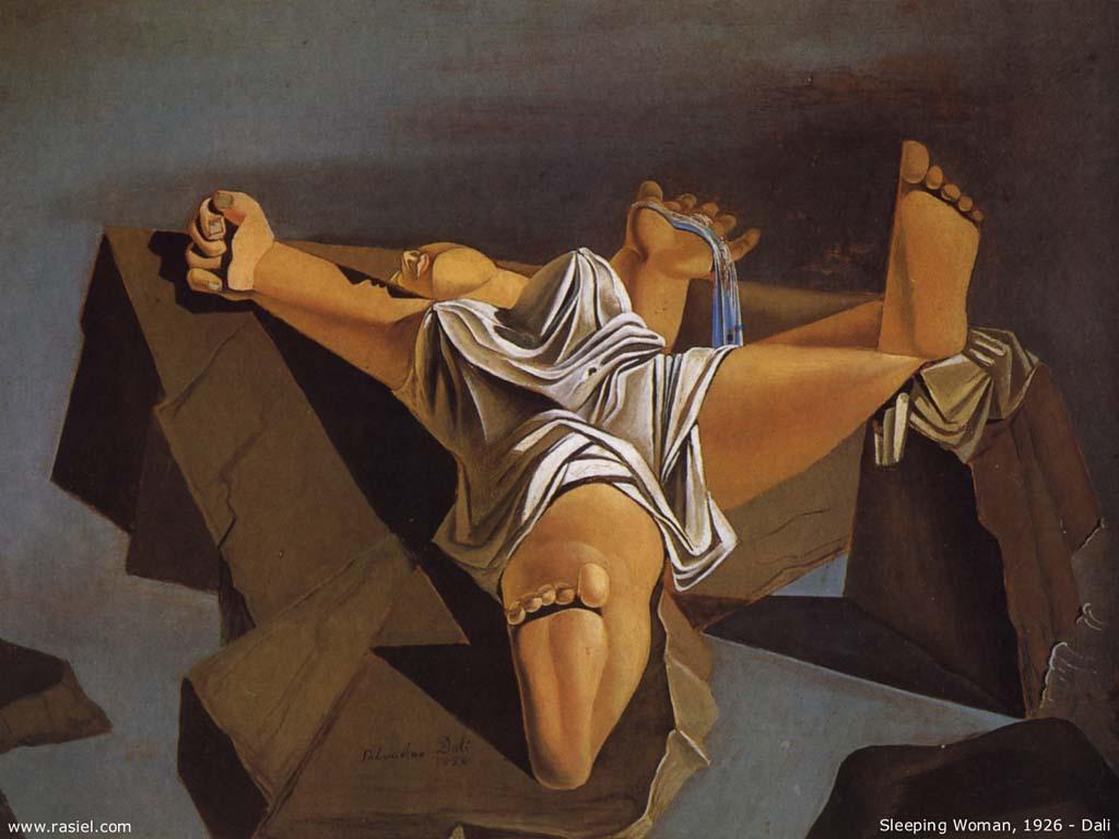 Salvador Dali Durmiendo Mujer