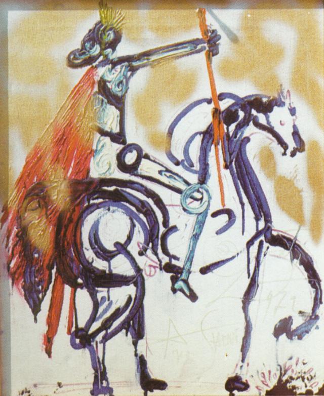 Trajano a caballo 1972 , aceite de Salvador Dali (1938-3183, Spain)