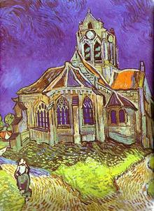 Vincent Van Gogh - la iglesia in Auvers
