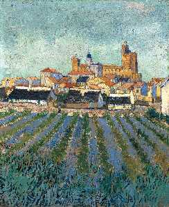 Vincent Van Gogh - Vista de Saintes-Maries
