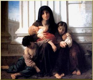 William Adolphe Bouguereau - Familia Indigente (Caridad)