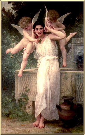 Inocencia, óleo de William Adolphe Bouguereau (1825-1905, France)