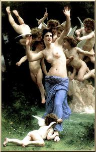 William Adolphe Bouguereau - Invadir Reino de Cupido