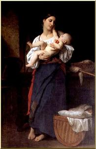 William Adolphe Bouguereau - Admiración maternal