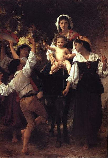 Retorno de la Cosecha, aceite de William Adolphe Bouguereau (1825-1905, France)