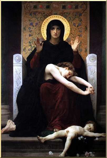 Virgen de la Consolación, óleo de William Adolphe Bouguereau (1825-1905, France)