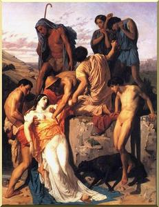 William Adolphe Bouguereau - Zenobia encontrados por pastores en las orillas del Araxes