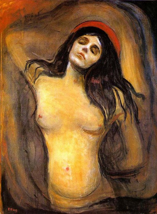 virgen, aceite de Edvard Munch (1863-1944, Norway)