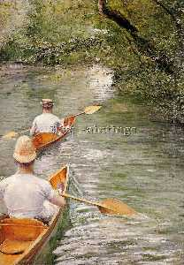 Gustave Caillebotte - Perissoires aka Las Canoas