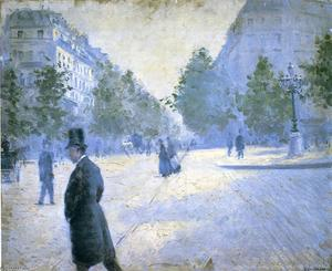 Gustave Caillebotte - place saint augustin , misty tiempo