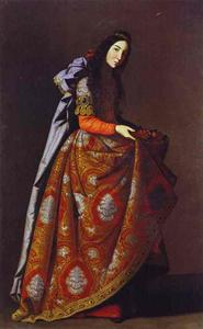 Francisco Zurbaran - San . Casilda