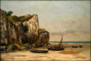 Gustave Courbet - Plage delaware Normandie
