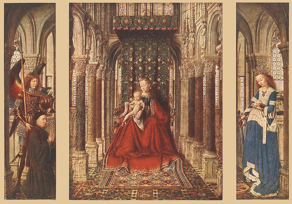 pequeña Triptych1 , aceite de Jan Van Eyck (1390-1441, Netherlands)