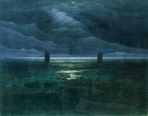 Caspar David Friedrich - Costa de Moonlight