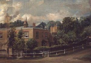 John Constable - vista de inferior terraza , Hampstead