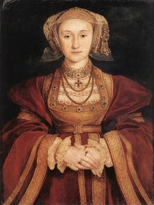 Hans Holbein The Younger - retrato de ana de cleves