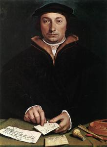 Hans Holbein The Younger - Retrato de Dirk Tybis