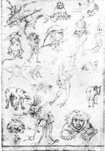 Hieronymus Bosch - Estudios of Monsters3