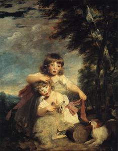 Joshua Reynolds - William Brummell y George Bryan Brummell